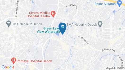 RedDoorz Apartemen @ Green Lake View Cimanggis Map