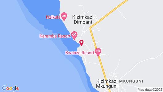 Bella Vista Resort Zanzibar Map