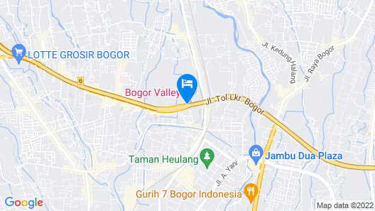 Bogor Valley Hotel Map