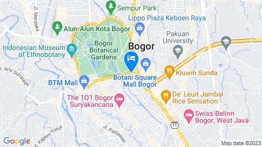 Amaroossa Royal Bogor Map