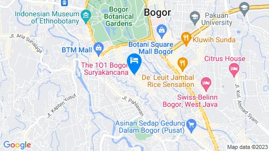 THE 1O1 Bogor Suryakancana Map