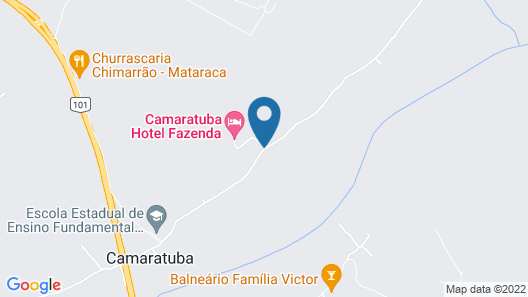Camaratuba Hotel Fazenda Map