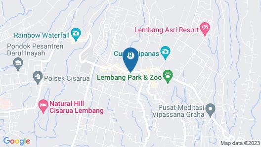 Hotel Kupu Kupu Lembang Map