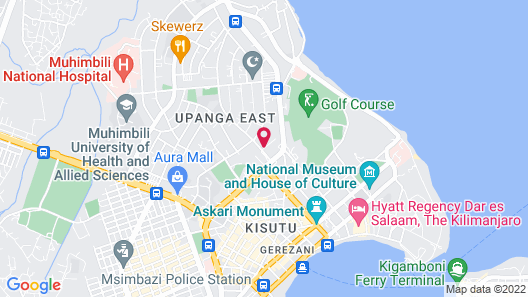 City Lodge Hotel Dar es Salaam Map