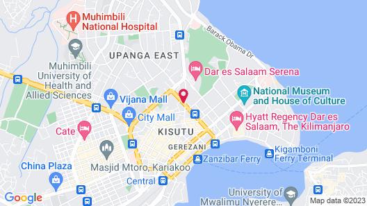 Holiday Inn Dar Es Salaam City Center, an IHG Hotel Map