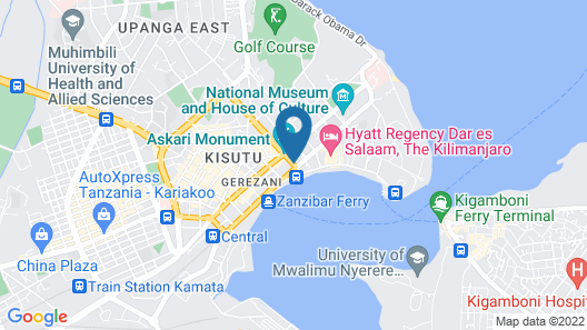 Four Points by Sheraton Dar es Salaam New Africa Map
