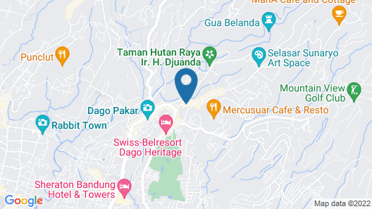 De Bukit Dago Villa by HouseinBandung Map