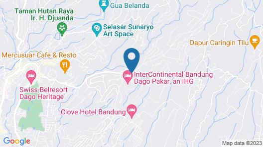 InterContinental Bandung Dago Pakar Map