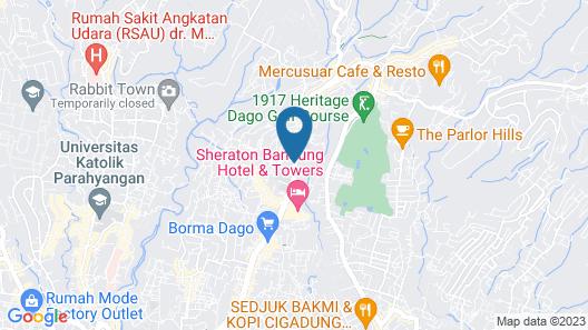 The Jayakarta Suites Bandung Map