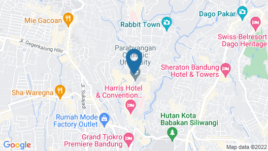 Modern Apartment Near Cihampelas at Parahyangan Residence Map
