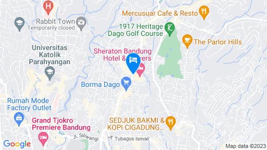 Sheraton Bandung Hotel and Tower Map