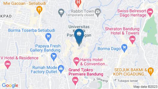 Minimalist Apartment with Sofa Bed at Parahyangan Residence Map