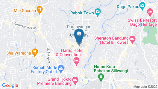 Cozy Apartment at Parahyangan Residence with Direct Access to Swimming Pool Map