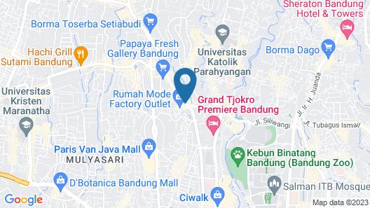 Belviu Hotel Bandung Map