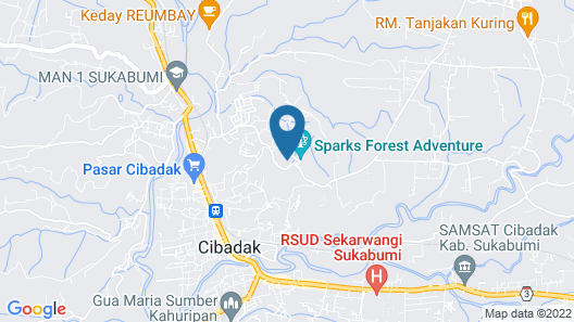 Sparks Forest Adventure Sukabumi Map
