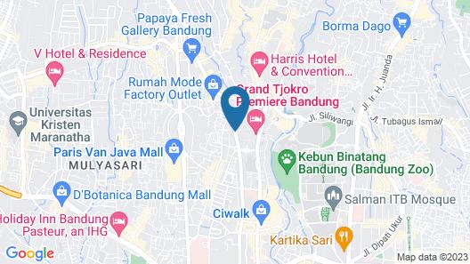 Grand Tjokro Premier Bandung Map