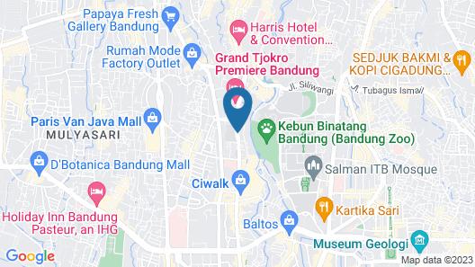 Cihampelas Hotel 3 Map