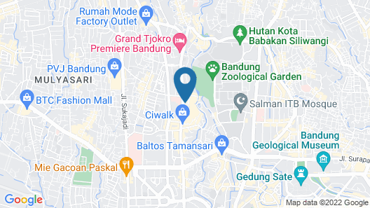Homey 2BR Apartment at The Jarrdin Cihampelas Map