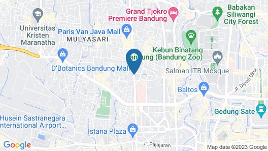 Zest Hotel Sukajadi Bandung Map