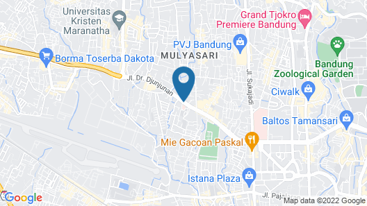 Collection O 17 Hotel BTC Bandung Map