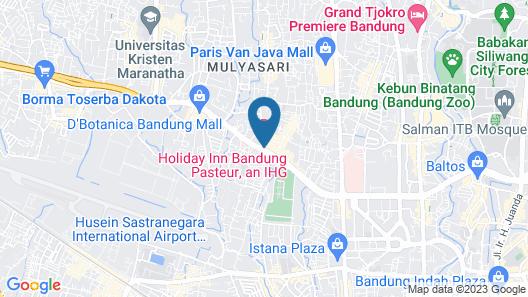 Holiday Inn Bandung Pasteur Map
