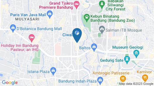 Aston Tropicana Hotel Bandung Map