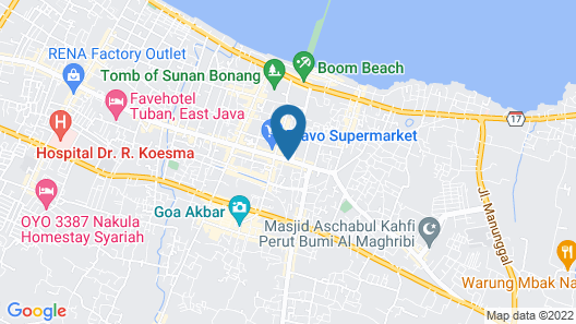 Saras City Tuban Map