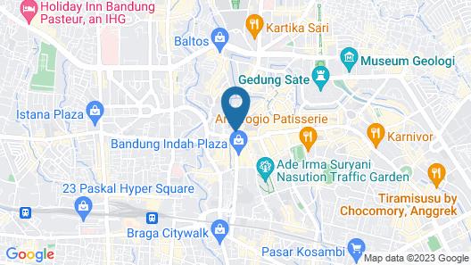 The 1O1 Bandung Dago Map