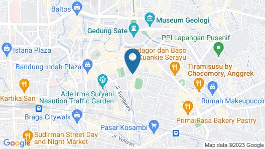 Amaroossa Hotel Bandung Map