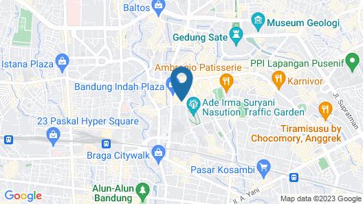 Aryaduta Bandung Map