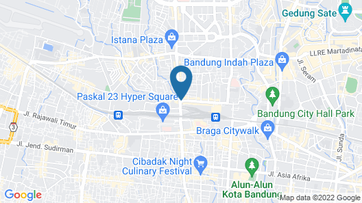 Hilton Bandung Map