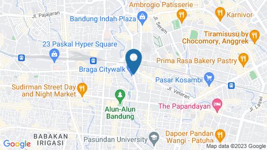 Aston Braga Hotel & Residence Bandung Map