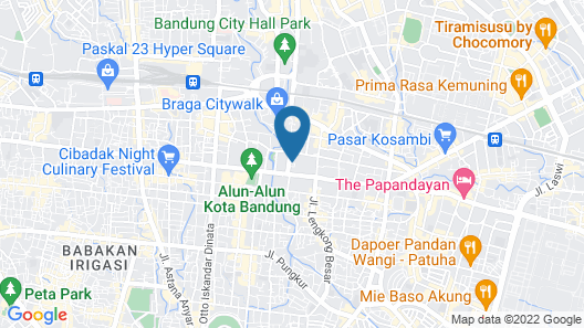Ibis Styles Bandung Braga Map