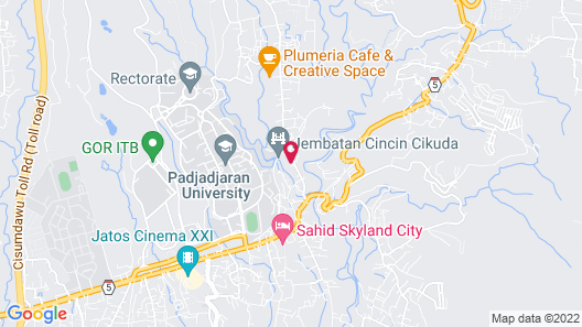 Stylish & Relaxing Studio at Taman Melati Jatinangor Apartment Map