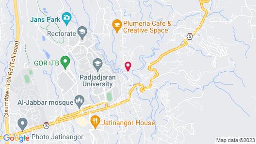 Wonderful Studio at Taman Melati Jatinangor Apartment with Mountain View Map
