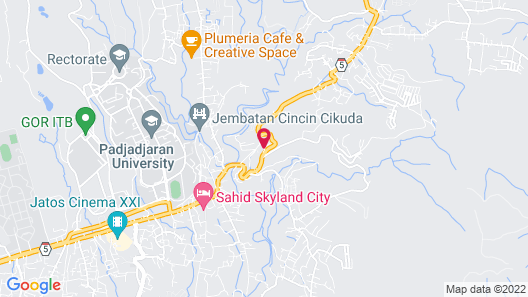 RedDoorz Plus near Jatinangor Town Square 2 Map