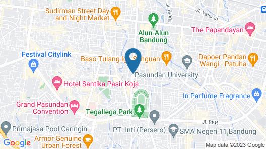 D'Best Hotel Bandung Map