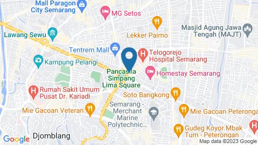 Hotel Ciputra Semarang managed by Swiss-Belhotel International Map