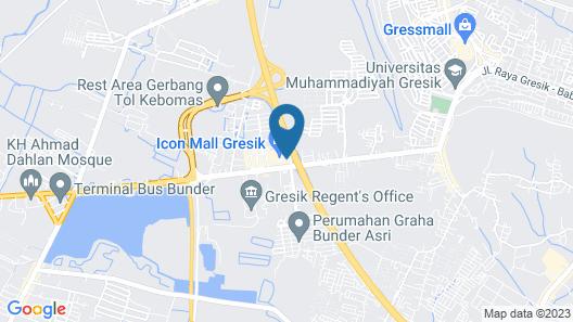 Hotel Santika Gresik Map