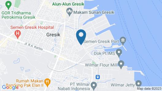 Hotel Horison GKB Gresik Map