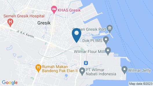 OYO 1346 Sinergi Hotel Gresik Map