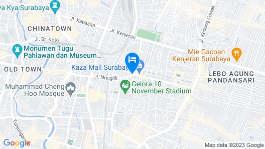 Palm Park Hotel Surabaya Map