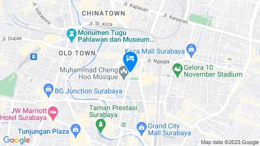 Hotel 88 Embong Malang Map