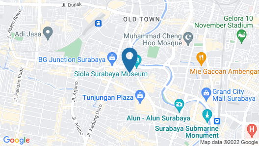Doubletree By Hilton Surabaya Map