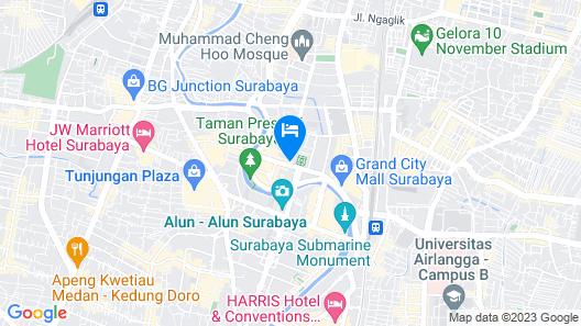 Cleo Walikota Surabaya Map