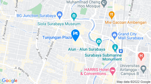 Sheraton Surabaya Hotel and Towers Map