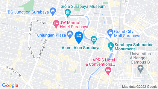 Bekizaar Hotel Surabaya Map