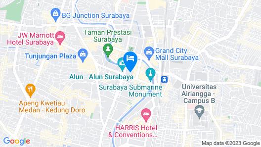 Garden Palace Hotel Surabaya Map