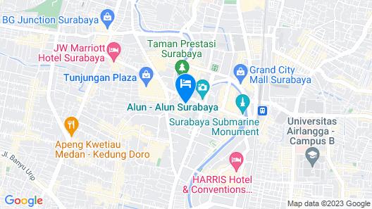 Hotel Kampi Surabaya Map