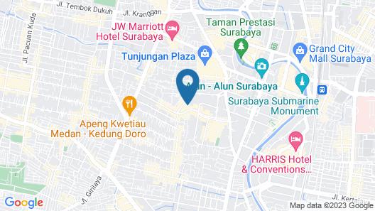 Bisanta Bidakara Surabaya Map